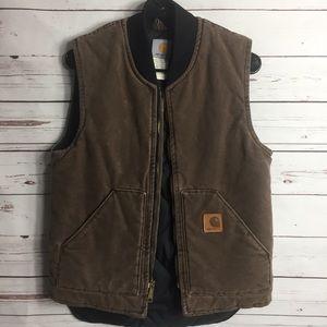 Carhartt insulated brown vest